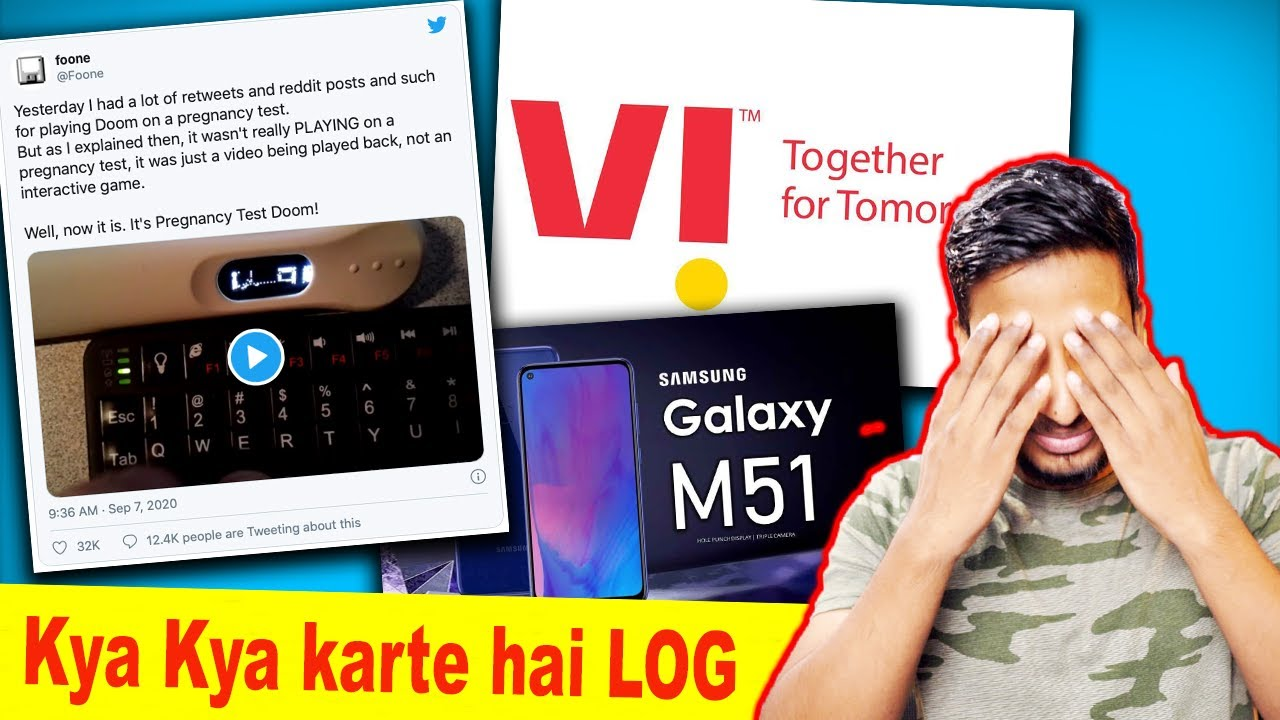 Videogame on Pragnancy Test KIT | Samsung M51 Launch | Vodafone-Idea Merger again(VI) | Tech News#6