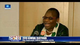 Oby Ezekwesili Aplogises To Nigerians For Withdrawing From Presidential Race