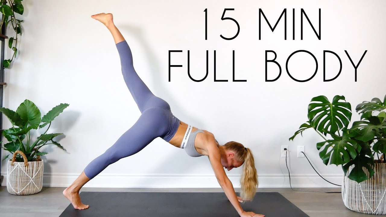 FULL BODY FAT BURN HIIT (NO JUMPING/APARTMENT FRIENDLY) 15 min Workout