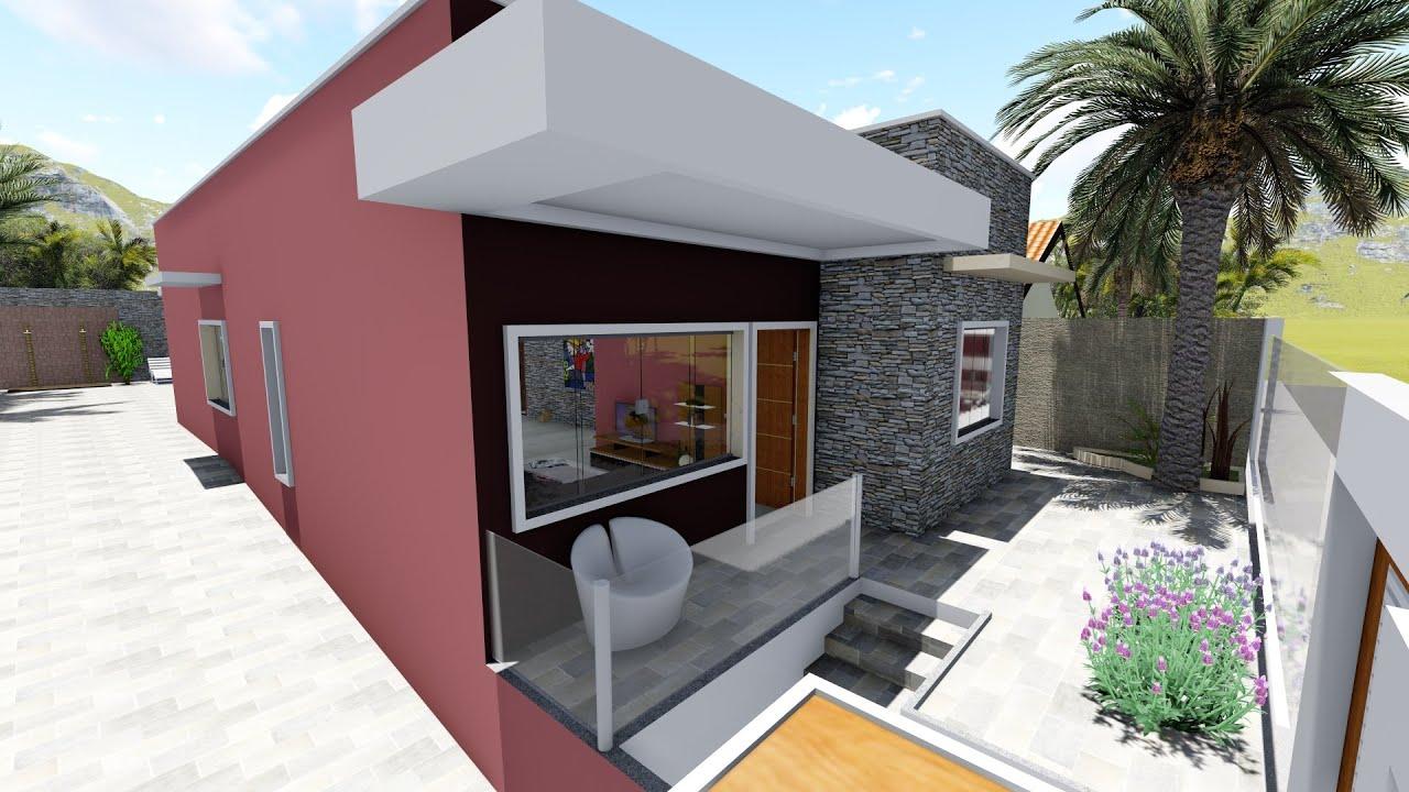 Arquitetura moderna maquete 3d pino engenharia casa for Casas premoldeadas modernas