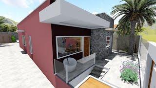 Arquitetura moderna, maquete 3D - PINO ENGENHARIA - CASA 85 m²