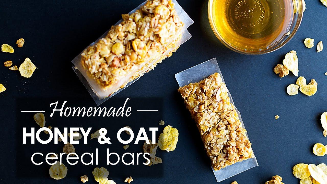 Honey oat homemade cereal bars recipe youtube honey oat homemade cereal bars recipe ccuart Gallery