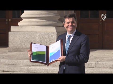 WATCH: Paschal Donohoe arrives to reveal Budget 2019