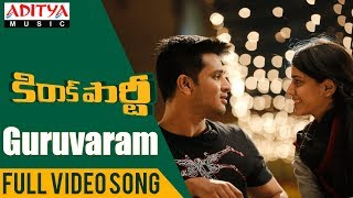 Guruvaram Full Song | Kirrak Party Songs | Nikhil Siddharth | Simran | Sharan Koppisetty