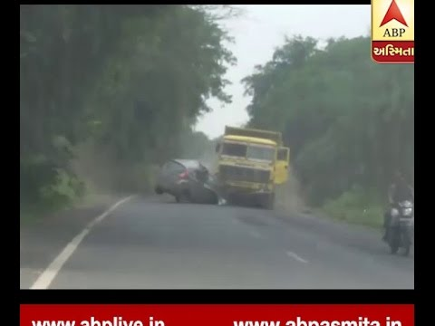 Gandhinagar Car Accident Video Viral