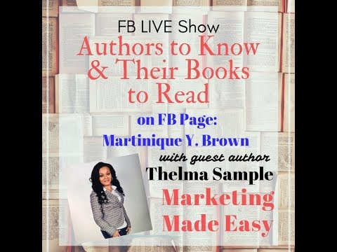 Authors to Know & Their Books to Read: Guest Thelma Sample