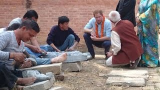 Prince Harry visits Nepal earthquake sites
