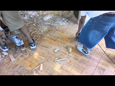 Remove Glued Down Hardwood Floors - How To Remove Glue Down Wood Floor