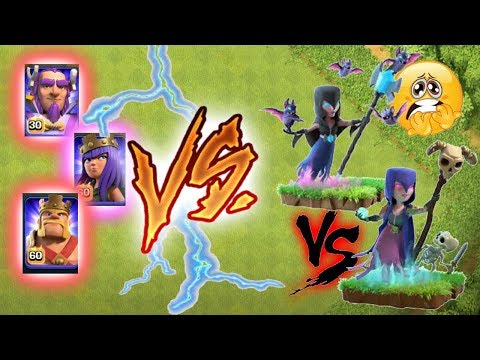 Max Night witch Vs Witch Vs All Heroes????Incredible Gameplay ????Clash of clans????unity clash????