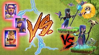 Max Night witch Vs Witch Vs All Heroes🔥Incredible Gameplay 😂Clash of clans😎unity clash😯