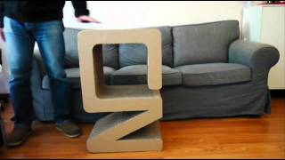 Flurniture -- Pulse Coffee Table / Side Table - Eco-friendly Cardboard Furniture