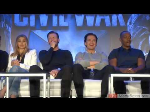 CAPTAIN AMERICA CIVIL WAR talk with Chris Evans, Anthony Mackie, Paul Rudd, Elizabeth Olsen