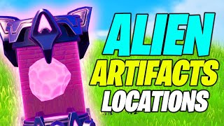 Alient Artifacts LOCATIONS (12 Locations) - Fortnite