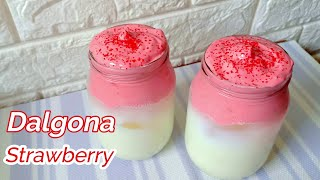 Dalgona Strawberry Recipe Using Powdered Milk