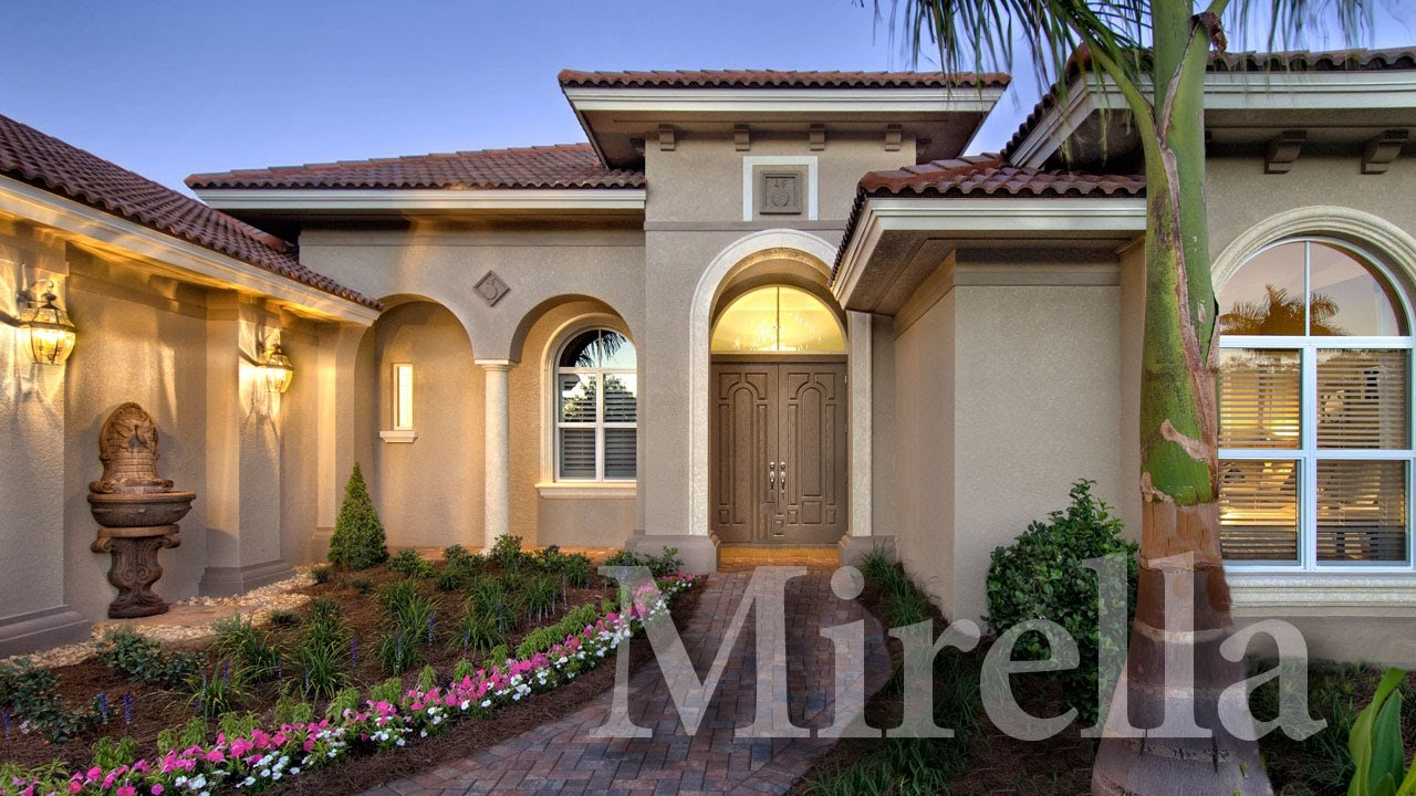 Mirella a modern mediterranean home plan youtube for Modern mediterranean homes
