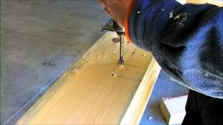 How to install a electrical box in your log home