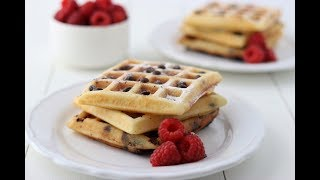 Waffles with Chocolate Chips/Wafels met Chocolate Chips