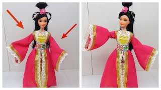 How to make Chinese Traditional Fairy Maiden Princess Doll With Long Dress P2