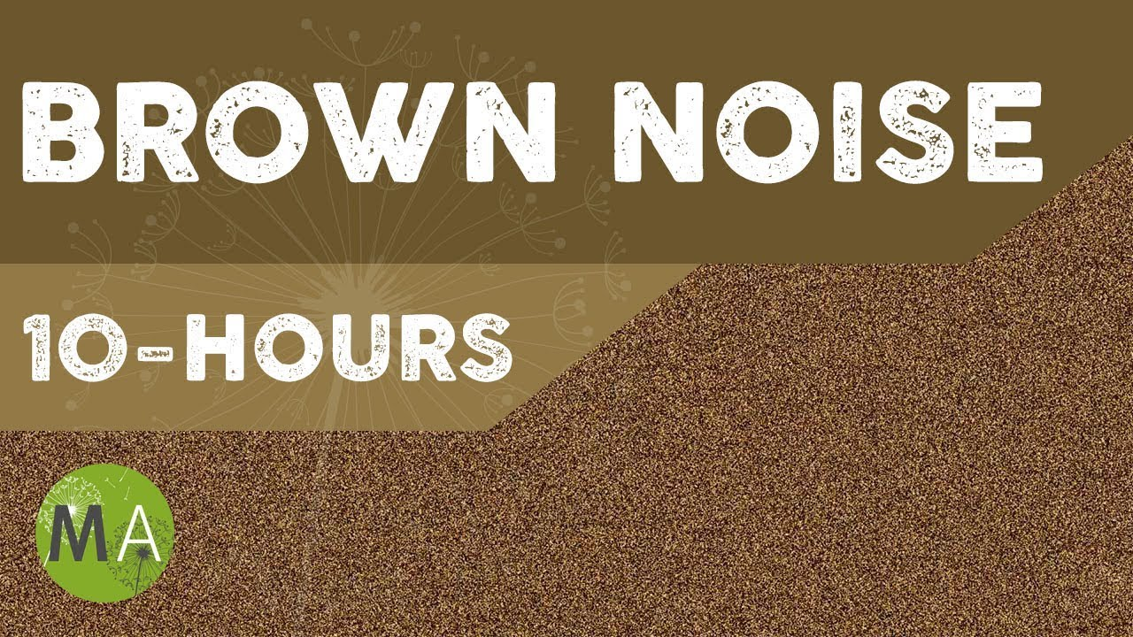 10 hours of brown noise for sleep relaxation blocking out