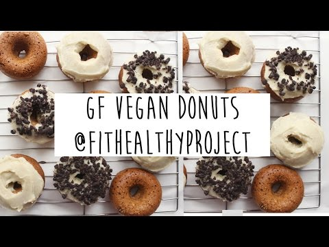 GF Vegan Donuts w/ Cookie Crumb Topping – Healthy + Delish!