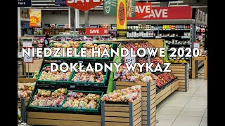 Niedziele handlowe 2020 - PEŁNA LISTA