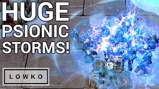 StarCraft 2: HUGE Psionic Storms!