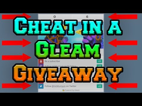 [Fixed] How to Cheat in a Gleam Giveaway