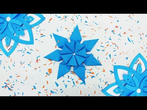 SNOWFLAKE | How To Make 3D Origami SnowFlakes | Making Easy Snowflake ~ Christmas decoration on 2019