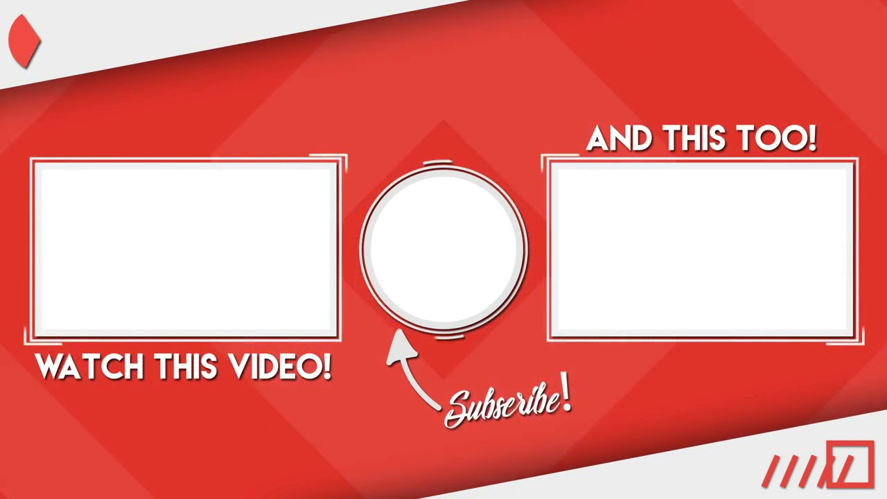 Latest Outro Template For Youtube New 2019 Free Download