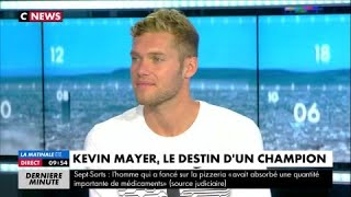 Kevin Mayer sur son saut à la perche :