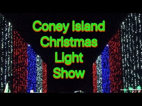 Coney Island, Cincinnati Ohio Christmas Light Show // Take a ride with Smith 5