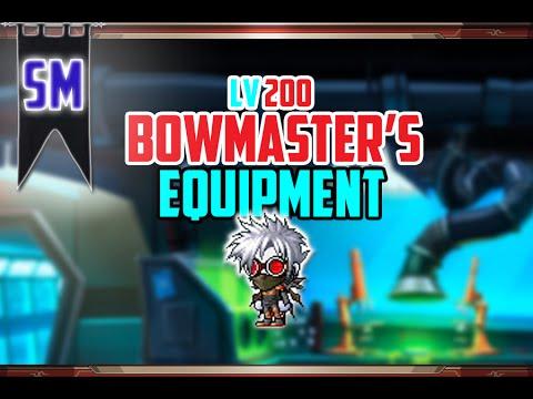 MapleStory: Lv 200 Bowmaster Equipment Video! [+HyperStats & Links]