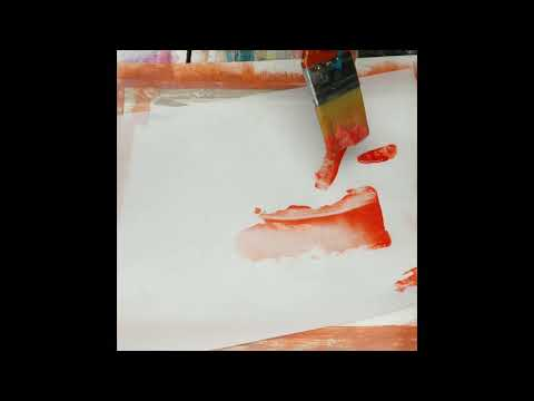 Painting Collage Papers:  Woodgrain Tool