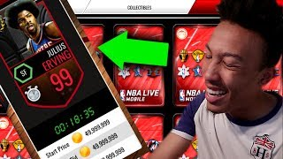 A GLITCHED 99 DR. J?! CORNUCOPIA BEST PACKS?? (NBA LIVE MOBILE)
