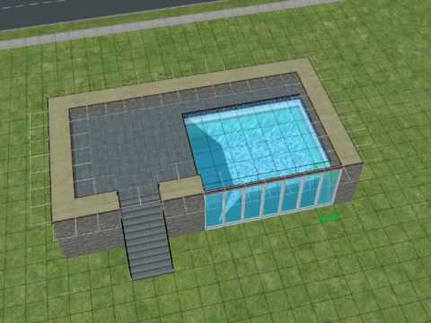 The Sims2: Making a pool with windows!