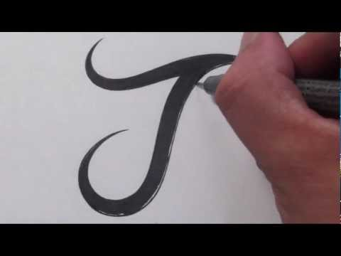 How To Draw a Simple Tribal Letter J