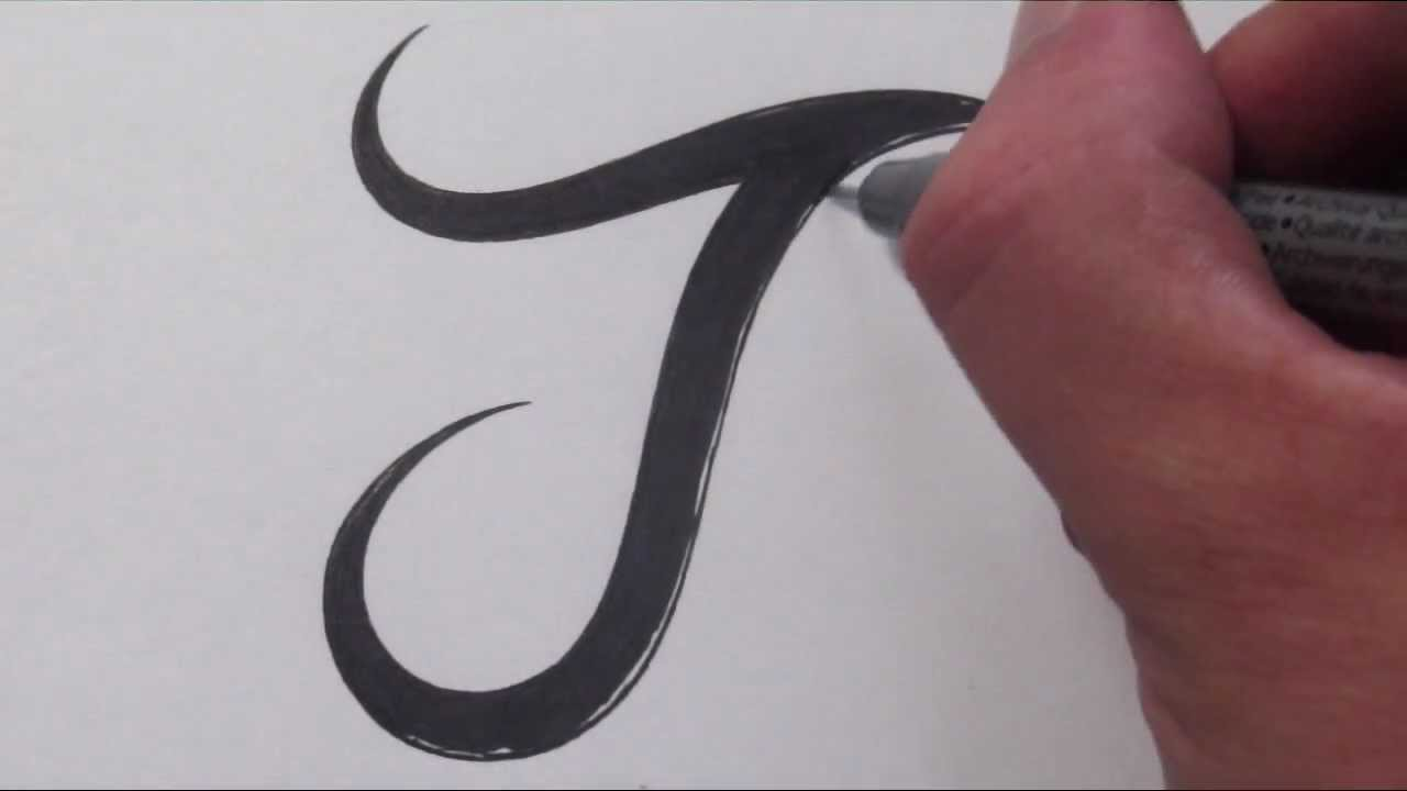 Printables How To Write Different Styles Of J Letter how to draw a simple tribal letter j youtube