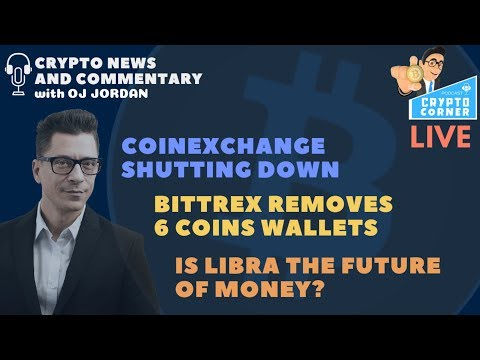 Crypto Exchange Closing Down, Bittrex wallet removals | Crypto Corner Live
