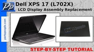 dell xps 17 l702x lcd display assembly replacement video tutorial teardown
