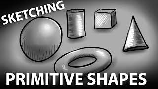 Sketching & Shading Primitive Shapes (Corel Painter Tutorial)