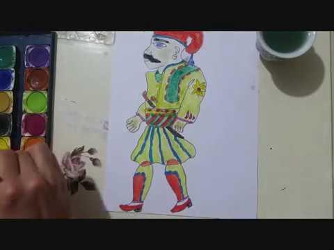 Remix Hacivat Karagöz çizimiwatercolor Painting Smile Toys Play