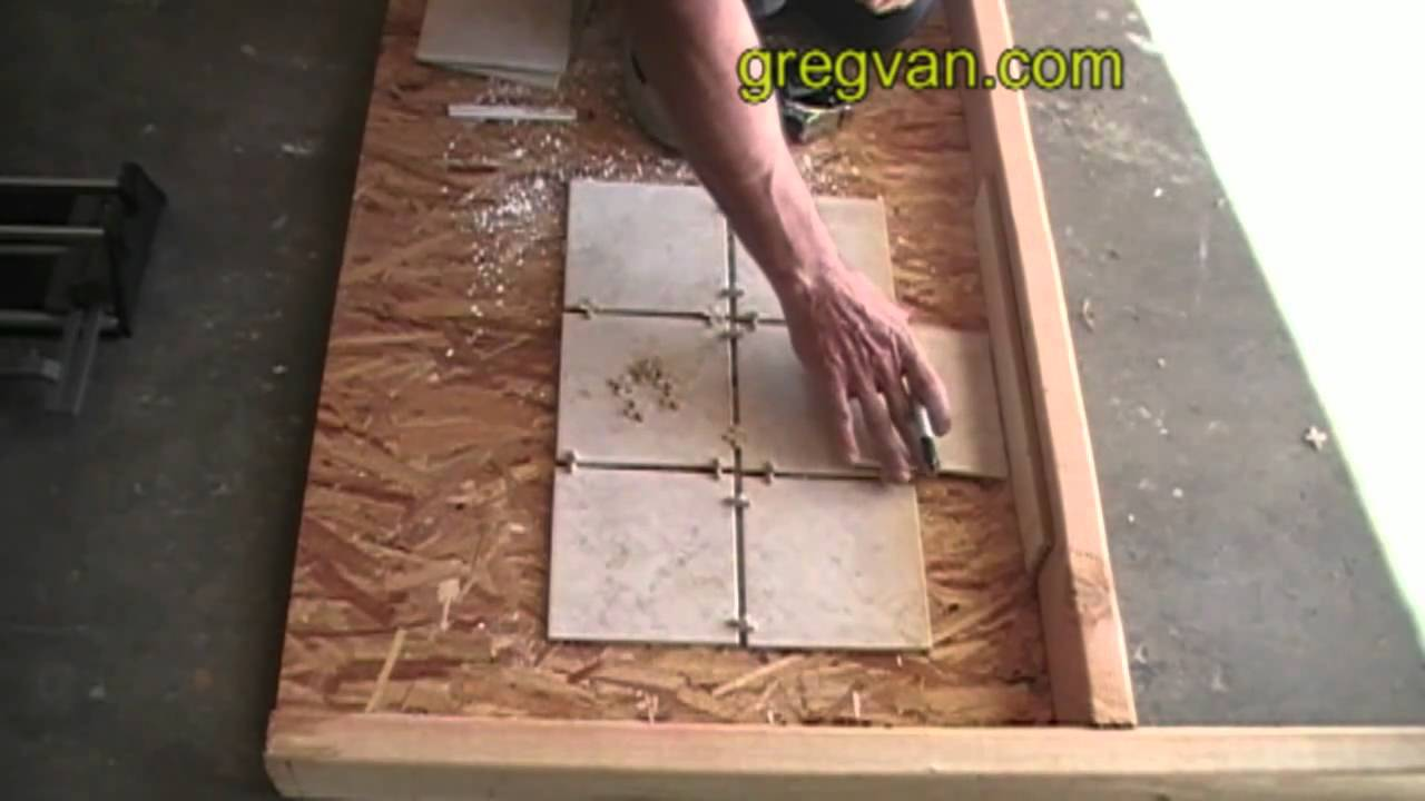 How to mark the edge of ceramic tile for cutting youtube how to mark the edge of ceramic tile for cutting dailygadgetfo Choice Image