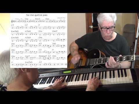 Ne me quitte pas - If You Go Away - guitar & piano jazz cover ( Jacques Brel )