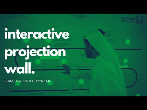 Interactive projection wall at Dubai Police Innovation Oasis in Dubai Citywalk by MIND SPIRIT DESIGN