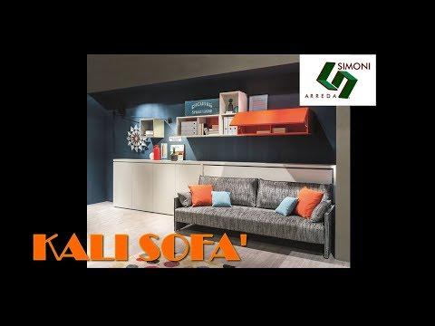 Letto a scomparsa con divano modello kali sofa 39 90 youtube for Simoni arreda milano