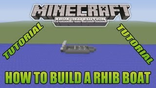Minecraft Xbox Edition Tutorial How To Build A Rhib Boat
