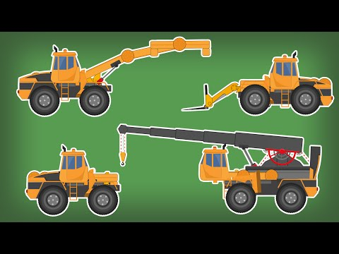 Transformer | Fork Lift | Crane | Handler | Kids Video
