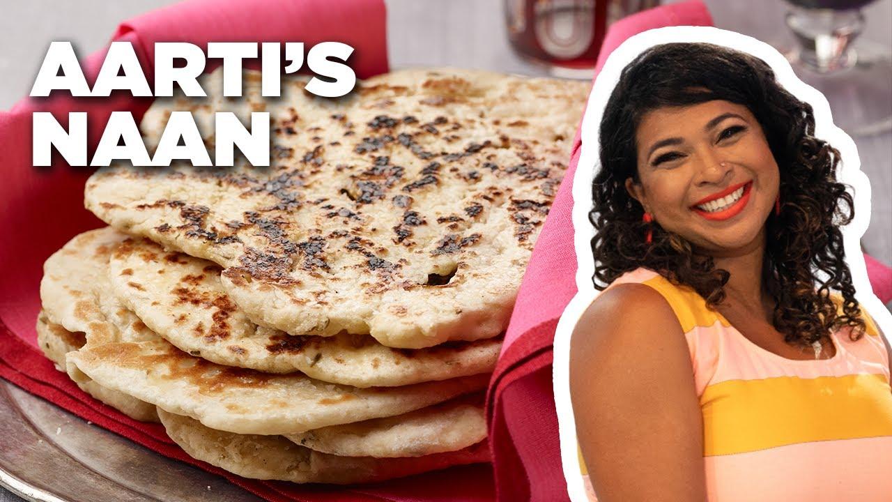 Aarti Sequeira Recipes Food Tv aarti sequeira's homemade naan | aarti party | food network