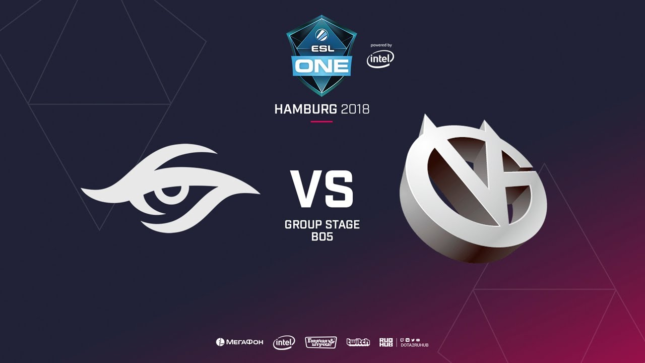 Team Secret vs  Vici Gaming, ESL  One Hamburg, bo5, game 4 [GodHunt & Lex]