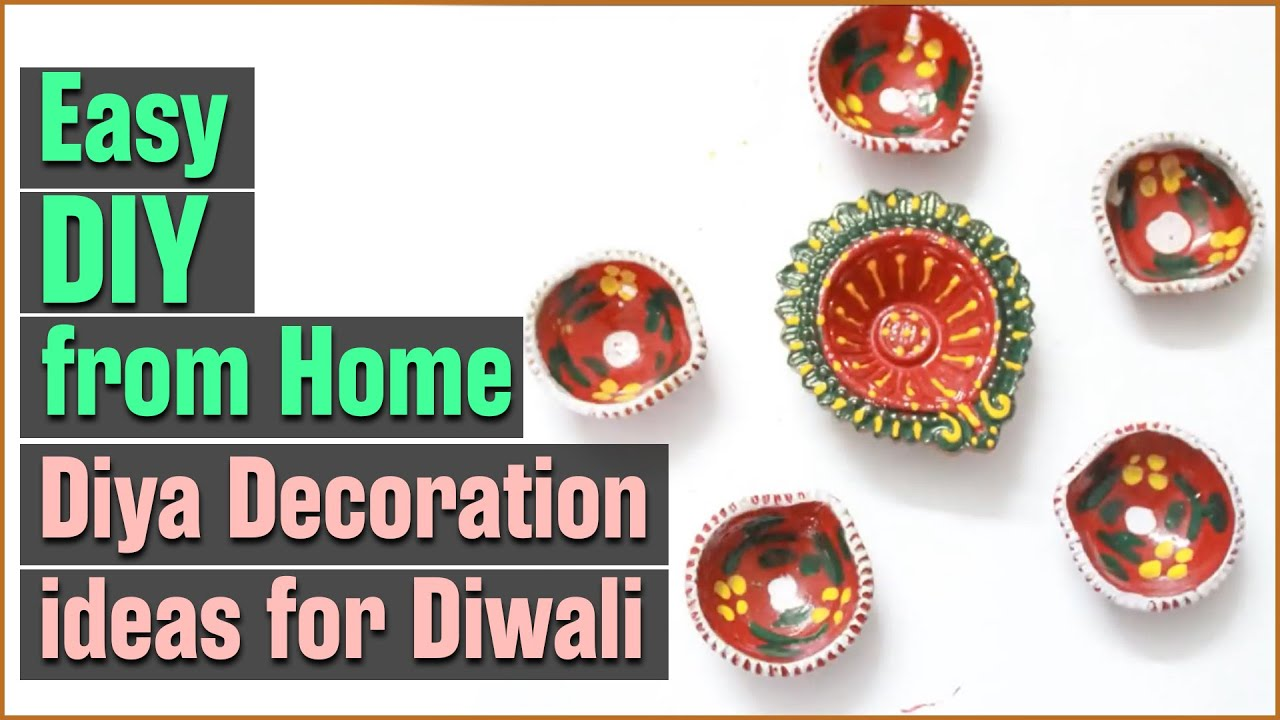 Diy how to color and decorate diwali diya youtube for Diya decoration youtube